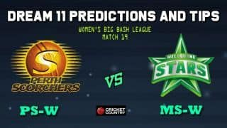 PS-W vs MS-W Dream11 Team Perth Scorchers Women vs Melbourne Stars Women, Match 19, Women's Big Bash League WBBL 2019– Cricket Prediction Tips For Today's Match PS-W vs MS-W at Perth November 2