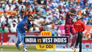 IND 199/3 | Live Cricket Score, IND vs WI, 1st ODI: Rain stops play again