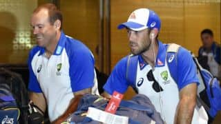 Australian cricketers seen loading cricket kitbags in a tempo after arriving in Mumbai