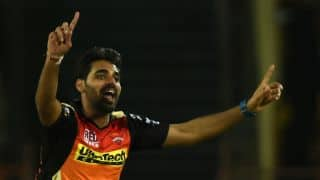 IPL 2017:Bhuvneshwar Kumar turns reporter after 5-wicket haul against Kings XI Punjab
