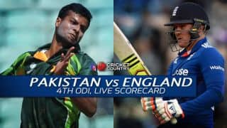 Live Cricket Scorecard: Pakistan vs England 2015, 4th ODI at Dubai