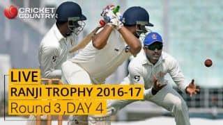 LIVE Cricket Score Ranji Trophy 2016-17, Day 4, Round 3