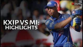 Kings XI Punjab vs Mumbai Indians, IPL 2015 Match 35 at Mohali Highlights