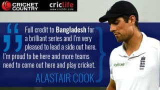 Cook urges other Test teams to tour Bangladesh