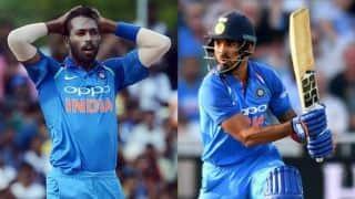 Hardik Pandya, KL Rahul out from 1st ODI vs Australia