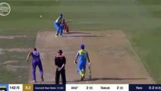 WATCH: Bowler stuns with bizarre bowling in European cricket league