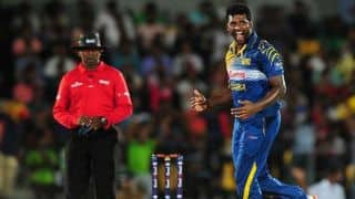 Thisara Perera helps Sri Lanka bundle out Pakistan for 102 in 3rd ODI at Dambulla
