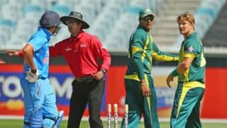 Rohit argues with Watson in 2nd ODI