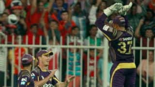 IPL 2014: Kolkata Knight Riders celebrate win over Royal Challengers Bangalore