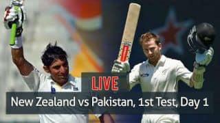 Live Cricket Score, New Zealand vs Pakistan, 1st Test Day 1 at Christchurch: