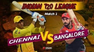Indian T20 League, Chennai vs Bangalore match updates: MS Dhoni and Co. aim for winning start