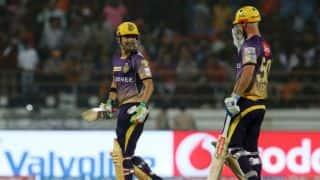 IPL 2017: Kolkata Knight Riders' (KKR) Chris Lynn gets injured while attempting a catch against Mumbai Indians (MI)