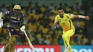 IPL 2019: Deepak Chahar, Harbhajan Singh, Imran Tahir restrict kolkata to 108/9 against Chennai