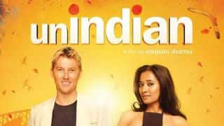 Photo: Brett Lee and Tannishtha Chatterjee in upcoming movie 'UnIndian'