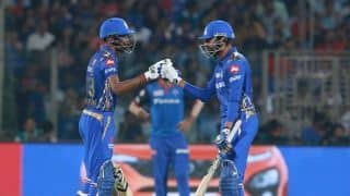 IPL 2019, DC vs MI: Hardik, Krunal power Mumbai Indians to 168/5 vs Delhi Capitals
