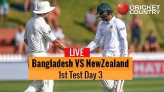 Live Cricket Score, Bangladesh vs New Zealand, 1st Test Day 3 at Wellington: STUMPS