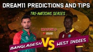 Dream11 Prediction: BAN vs WI Team Best Players to Pick for Today's Match between Bangladesh and West Indies at 3:15 PM