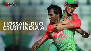 India A rocked by Nasir Hossain's double; Bangladesh A level series