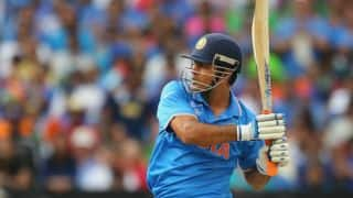 Ravindra Jadeja and MS Dhoni hope to take India home against West Indies in ICC Cricket World Cup 2015
