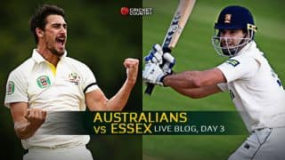 Live Cricket Score, Australians vs Essex at Chelmsford, Day 3, STUMPS: AUS 212/8, lead by 360
