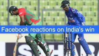 Reactions on Facebook after India's win