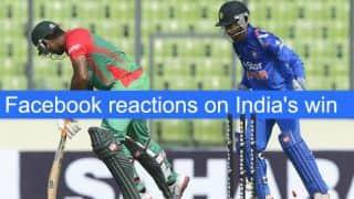 India vs Bangladesh 2014 1st ODI at Dhaka: Reactions on Facebook after India's win