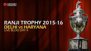 DEL 225/6   Live cricket score, Delhi vs Haryana, Ranji Trophy 2015-16, Group A match, Day 4 at Delhi: Delhi won by 4 wickets