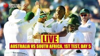 LIVE Cricket Score, Australia vs South Africa, 1st Test, Day 5 at Perth: Visitors win by 177 runs