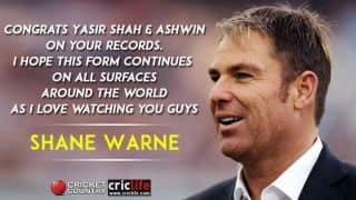 Shane Warne's admiration for Ravichandran Ashwin and Yasir Shah