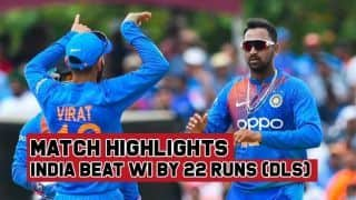 Match Highlights: India seal T20I series with 22-run win (DLS) over West Indies