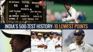 India's 500-Test history: 10 lowest points