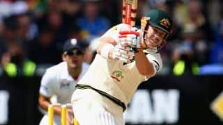 David Warner takes Australia to 107/3 at lunch on Day 1 of 3rd Ashes 2013-14 Test