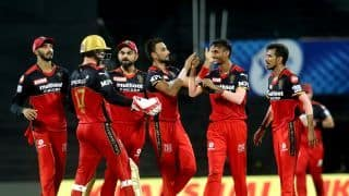 IPL 2021 SRH vs RCB: Royal Challengers Bangalore Beat Sunrisers Hyderabad in a Thriller | See Pictures