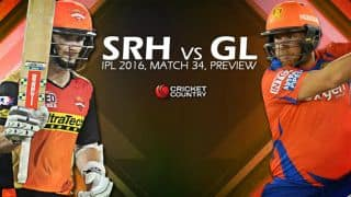 Sunrisers Hyderabad (SRH) vs Gujarat Lions (GL), IPL 2016, Match 34 at Hyderabad, Preview: GL aim to avenge defeat