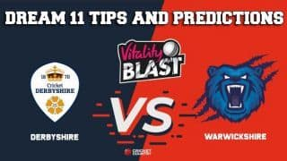 Dream11 Team Derbyshire vs Warwickshire/Birmingham North Group VITALITY T20 BLAST ENGLISH T20 BLAST – Cricket Prediction Tips For Today's T20 Match DER vs WAS at Birmingham