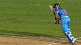 India vs Sri Lanka Asia Cup 2014 Match 4: Dhawan, Kohli steady India after Rohit's dismissal; score 73/1 in 17 overs