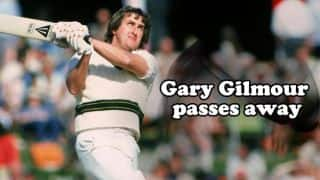 Cricket fraternity pays tribute to Gilmour