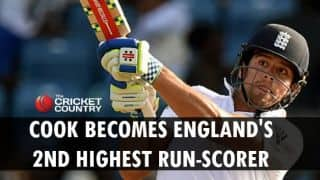 Alastair Cook becomes England's second highest run-scorer in Tests during West Indies vs England, 2nd Test at Grenada