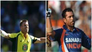 David Warner equals Sachin Tendulkar's record of most 150-plus ODI scores