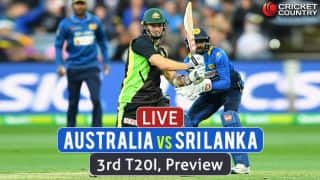 Australia vs Sri Lanka 3rd T20I, Preview: Visitors eye historic clean sweep; hosts to play for pride