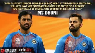 MS Dhoni relies on Virat Kohli's advice