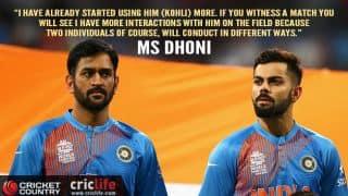 MS Dhoni relies on Virat Kohli's advice