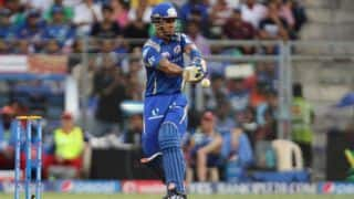 Mumbai Indians off to an excellent start against Sunrisers Hyderabad in IPL 2015 Match 56 at Hyderabad