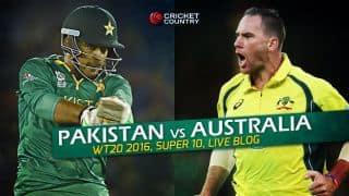 PAK 172/8 | Overs 20 | Live Cricket Score Pakistan vs Australia, T20 World Cup 2016, 26th Match at Mohali: Australia win by 21 runs