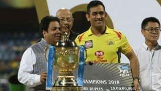 IPL 2018: Chennai Super Kings gets INR 20 crore prize money