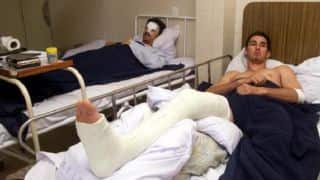 Steve Waugh and Jason Gillespie suffer horrific collision at Kandy