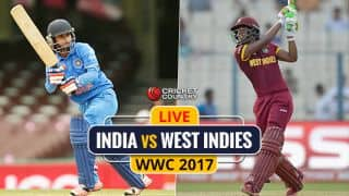 Live cricket score, India vs West Indies, ICC Women's World Cup 2017