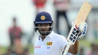 Kumar Sangakkara dismissed for 32 in penultimate innings during 2nd Test against India at Colombo