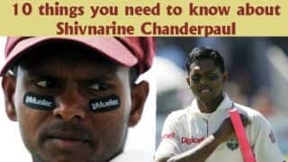 10 things you should know about Shivnarine Chanderpaul