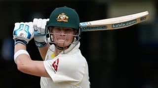 Steve Smith bats against bowlers in the nets, expected to play Derbyshire tour match
